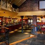 The interior of a commercial property, in this case a pub.